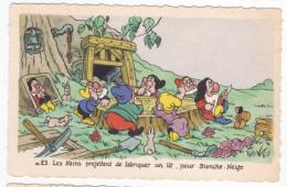Blanche Neige Et Les Sept Nains éditions Superluxe N° 23 Fabrication Du Lit Non écrite Très Bon état Bord Frangé - Andere