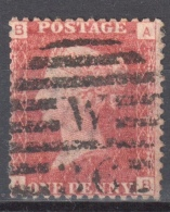 Great Britain 1858-79 - Queen Victoria, 1d Red - Mi.16 Plate 118 - Used - 1840-1901 (Viktoria)