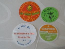 LOT DE 7 étiquettes Fromage Chèvre Dpt 26 38  03 Saint-Marcelin Laiterie De Crest  Chevrieres Fromageries CHOLET - Cheese