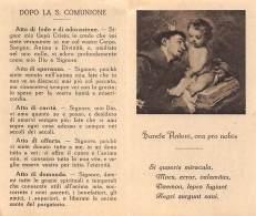 """06185 """"TORINO - PARROCCHIA DI S. GIULIA V. M. - COMUNIONE PASQUALE 1931"""" IMM. RELIG. ORIGIN. - Santini"""
