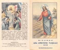 """06187 """"GREGGIO (VC) - COMUNIONE PASQUALE 1935"""" IMM. RELIG. ORIGIN. - Santini"""