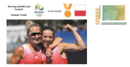 Spain 2016 - Olympic Games Rio 2016 - Gold Medal Rowing Female Poland Cover - Juegos Olímpicos