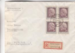 République Démocratique - Lettre Recommandée De 1952 - Oblitération Rostock - Musique - Beethoven - Exp Vers Hamburg - DDR