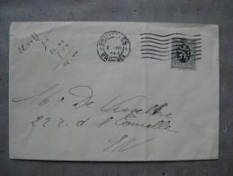 Timbres Belgique : Sur Enveloppe Lion Héraldique 5 C - Covers & Documents