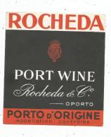 étiquette , PORTO D'ORIGINE , ROCHEDA & Co. , PORT WINE - Etiquettes