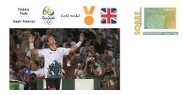 Spain 2016 - Olympic Games Rio 2016 - Gold Medal Tennis Male Great Britain Cover - Non Classificati