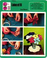 LAINE ET FIL ,FLEURS FICHE TECHNIQUE  REF 48170 - Wool