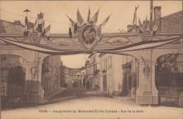 17-PONS-Inauguration Du Monument Emile Combes - Rue De La Gare...1931 - Pons
