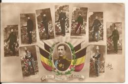 5717. CPA GUERRE 14 18 WW1. BELGIQUE. LE ROI PROTEGE SON ARMEE. - Guerre 1914-18