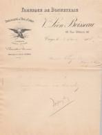 Lettre 3/9/1907 Vve Léon BOISSEAU Bonneterie TROYES Aube - Bas  à Cotes Marque L'Aiglon -  Chaussettes - France