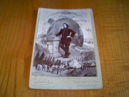 Photo Cabinet Bombée Chasseur Alpin Du 30° BCA, épreuve Obtenue La Nuit.illustrée Autour. Léon à Grenoble,gravure Au Dos - War, Military