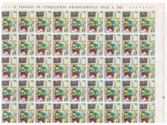 SAN  MARINO:  1970  WALT  DISNEY  -  £. 1  GAMBA  DI  LEGNO  N.  -  FGL. 50  -  SASS. 814 - Hojas Bloque