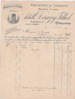 Facture 28/4/1923 ACHILLE DERAZEY FILHOL Casquettes Berrets TOULOUSE Haute Garonne - France