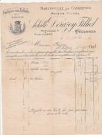 Facture 15/5/1923 ACHILLE DERAZEY FILHOL Casquettes Berrets TOULOUSE Haute Garonne - France