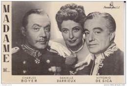 Madame De... C. Boyer, D. Darrieux, V. De Sica. TEATRO ZORRILLA. Peninsular Films. - Acteurs