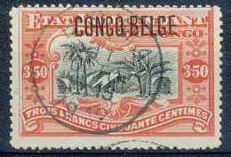 N° 47, 3F50 Vermillon Surchargé 'CONGO BELGE', Obl Centrale Et Grande Fraîcheur - 1894-1923 Mols: Usati