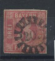 Allemagne - Bavière N° 10 Obl (FU) 1861-62 - Bavière
