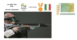 Spain 2016 - Olympic Games Rio 2016 - Gold Medal - Shot Rifle 50m. Male Italy Cover - Juegos Olímpicos