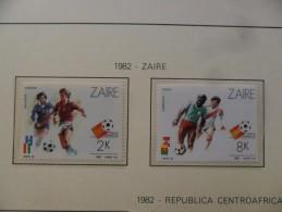 ZAIRE 1982 SCOTT 1058/59  - FOOTBALL ESPAÑA`82 -   ** MNH - Fußball-Weltmeisterschaft