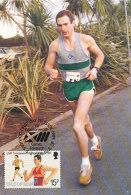 D25107 CARTE MAXIMUM CARD 1986 GREAT BRITAIN - ATHLETICS RUNNING CP ORIGINAL - Athletics