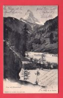 Wallis, Die VISP Mit MATTERHORN / Valais, La VIEGE Et LE CERVIN // Circulée En 1903 - VS Valais