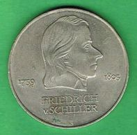 A949 Alemania Oriental 20 Marcos 1972 - Friedrich Schiller - Non Classificati
