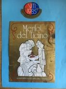 1461- Suisse Tessin  Merlot Del Ticino 1985 - Etiquettes