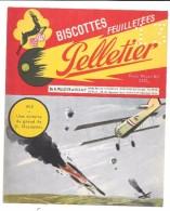 BUVARD - BISCOTTES PELLETIER -  1915 - Une Victoire Du Grand As G. Guynemer - Biscottes