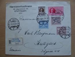 Vaticane Cvr 1929-08-23 Vaticano Registered Cover With Paus Pius Stamps A 14,50 Euro - Vatican