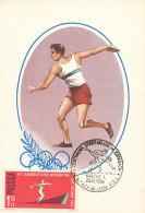 D25143 CARTE MAXIMUM CARD 1964 POLAND - DISCUS THROWING CP ORIGINAL - Athletics