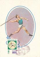 D25144 CARTE MAXIMUM CARD 1964 ROMANIA - JAVELIN CP ORIGINAL - Athletics