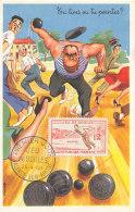 D25147 CARTE MAXIMUM CARD FD 1958 FRANCE - PETANQUE JEU DE BOULES CP ORIGINAL
