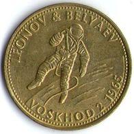 2989 Vz Leonov & Belyaev Voskhod 2 1965 - Kz Shell - Jetons & Médailles
