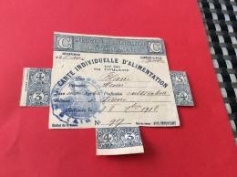 Carte Individuelle D´alimentation 1918 Commune De Forens Dans L´Ain - Blanc Henri - Historical Documents