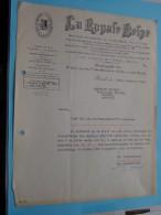 LA ROYALE BELGE Brussel / Gemeente SCHOTEN - 1944 ( Factuur/maning ) ( Zie Foto Voor Details ) ! - Banque & Assurance