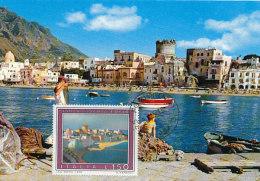 D25154 CARTE MAXIMUM CARD 1976 ITALY - GENERAL VIEW ISOLA ISCHIA CP ORIGINAL - Architecture