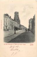 59 LILLE - LA RUE NATIONALE ET L EGLISE DU SACRE COEUR - Lille