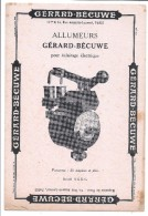 BUVARD - GERARD BECUWE - Allumeurs - Electricité & Gaz