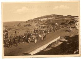 Guerre D' Espagne Caravane  Route CERBERE à COLLIOURE  Camp De La Mauresque Réfugiés - Francia