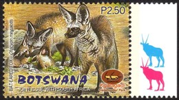 Botswana Bat-eared Fox Otocyon Megalotis Mnh Stamp - Game