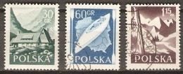 POLOGNE   -    1956.   Y&T N° 857 & 859 à 860 Oblitérés.   Loisirs - Gebraucht