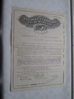 ASSURANTIE COMPAGNIE Van De SCHELDE N° 1.213.816 Bijvoegsel BRAND Verzekering 1927 ( Zie Foto Voor Details ) ! - Actions & Titres