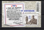 France 2010.Feuillet 70ème Anniversaire De L´Appel Du18 Juin 1940 - France