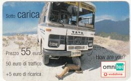 ITALY - Omnitel/Vodafone Prepaid Card 55 Euro, Exp.date 31/12/06, Used - Italië