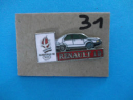 """PIN´S - RENAULT """"   RENAULT 19   Pub Sponsor  J O  Albertville 92   """"  - Voir Photo ( 31 ) - Renault"""