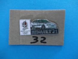 """PIN´S - RENAULT """"   RENAULT 21   Pub Sponsor  J O  Albertville 92   """"  - Voir Photo ( 32 ) - Renault"""