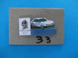"""PIN´S - RENAULT """"   RENAULT 25   Pub Sponsor  J O  Albertville 92   """"  - Voir Photo ( 33 ) - Renault"""