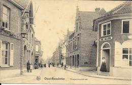 CPA / AK / PK  - OOST-ROOSBEKE  Drongenbroodstraat  ( Animation , Cafe De Klok ) - Oostrozebeke