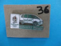 "PIN´S - RENAULT ""  RENAULT ESPACE   "" -   Pub Sponsor  J O  Albertville 92 - Voir Photo ( 36 ) - Renault"