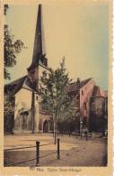 Huy - Eglise Saint-Mengol(sic) Saint-Mengold (colorisée, Animée, Edit. Mouton) - Huy